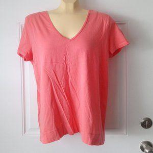 LAUREN RALPH LAUREN 100% Cotton Coral Tee-Shirt XL